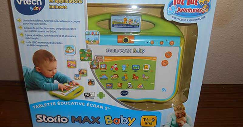 Test de la Storio Max Baby de Vtech {Sponsorisé}
